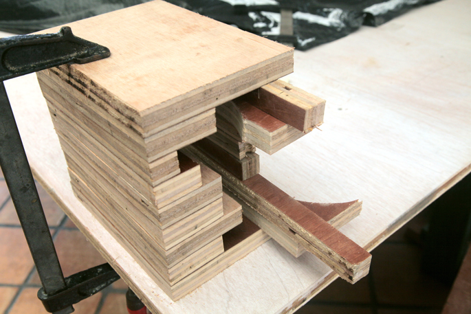 2 Hour DIY: Book Stand Display - Step #4 Clamping the glued pieces