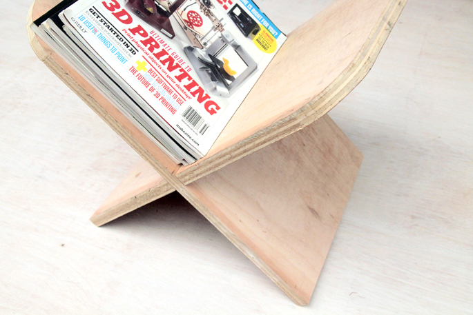 DIY Plywood Magazine Stand - Step #8 Trying it out