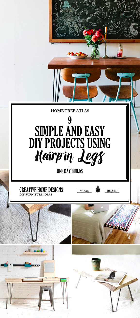 One Day Builds: 9 Simple and Easy DIY Projects Using Hairpin Legs