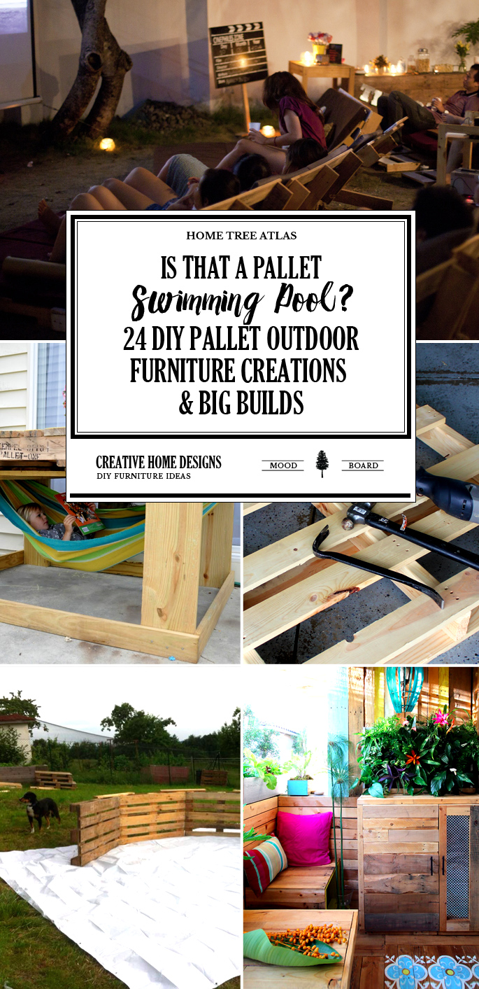 Is That a Pallet Swimming Pool? 24 DIY Pallet Outdoor Furniture Creations and Big Builds