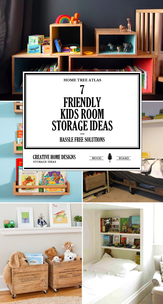 7 Friendly Kids Room Storage Ideas