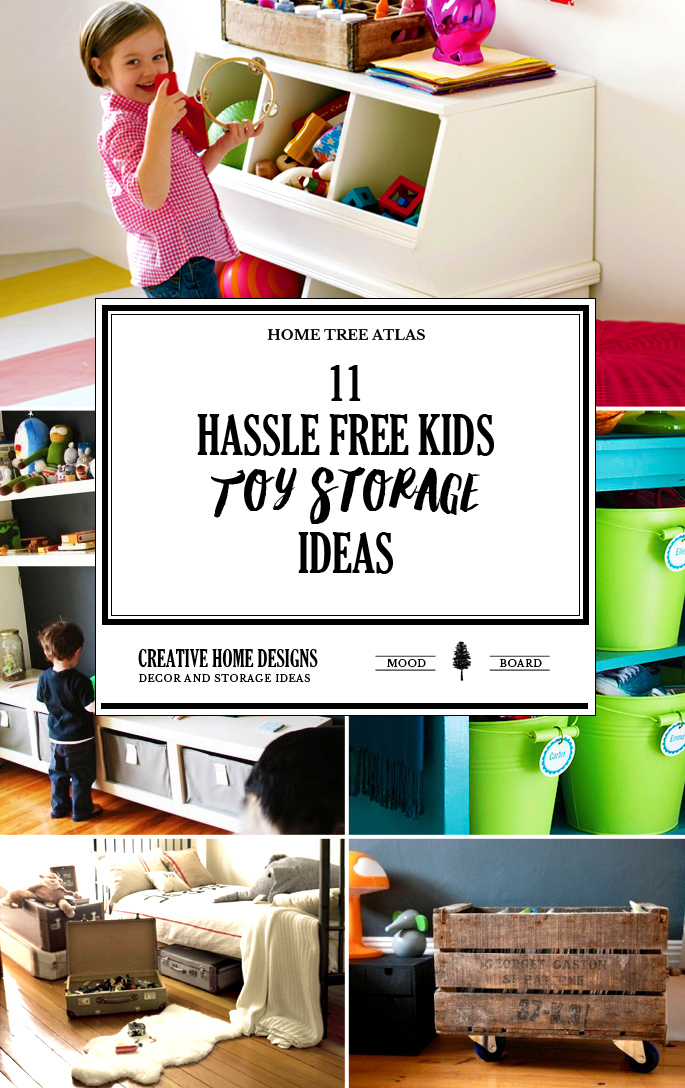 11 Hassle Free Kids Toy Storage Ideas