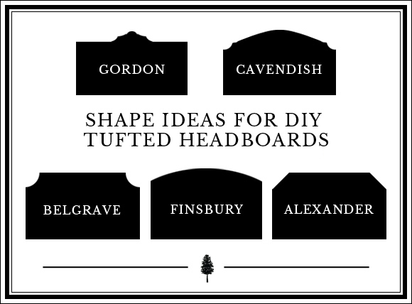 How to Design Your Own DIY Tufted Headboard in 4 Steps: Step #1 The shape