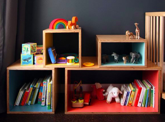 7 Friendly Kids Room Storage Ideas: #2 Pops of color