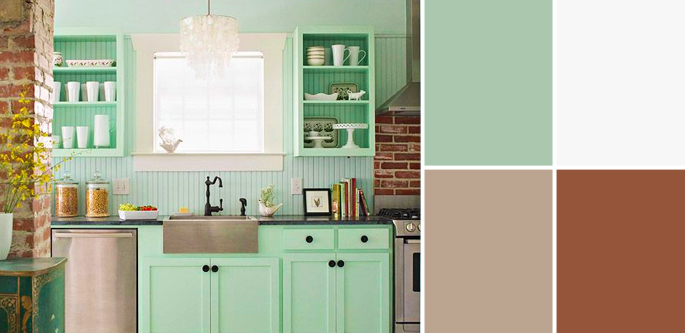Vintage Paint Colors and Palette Home Style Guide: Fresh Mint