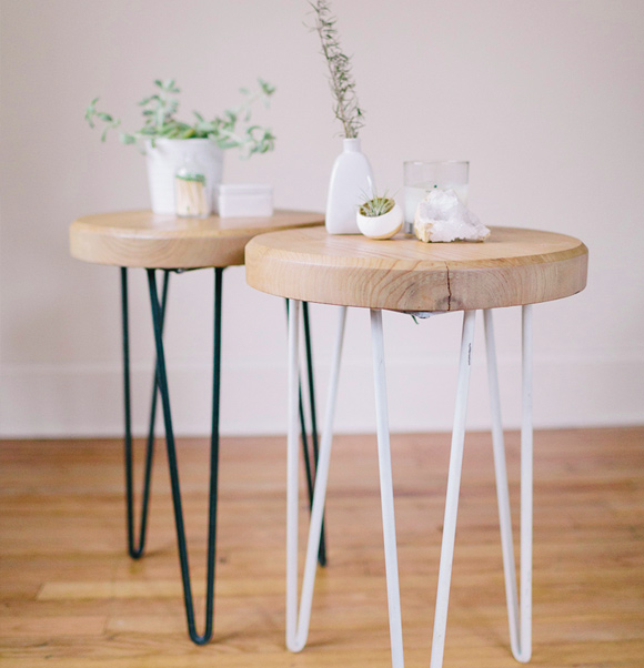 One Day Builds: 9 Simple and Easy DIY Projects Using Hairpin Legs: #3 Hairpin Leg Stools