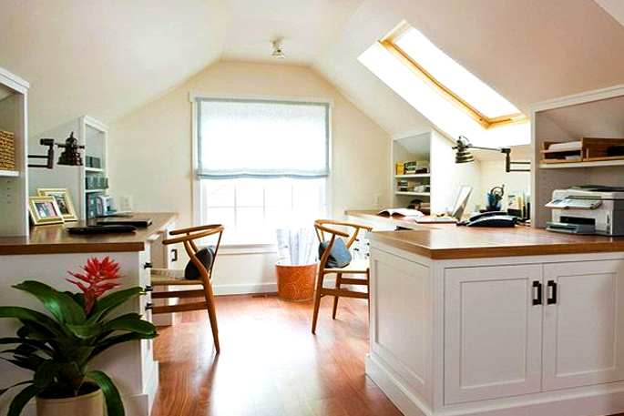 Attic Rooms - 11 Different Conversion Ideas: #2 A Quiet Place to Work