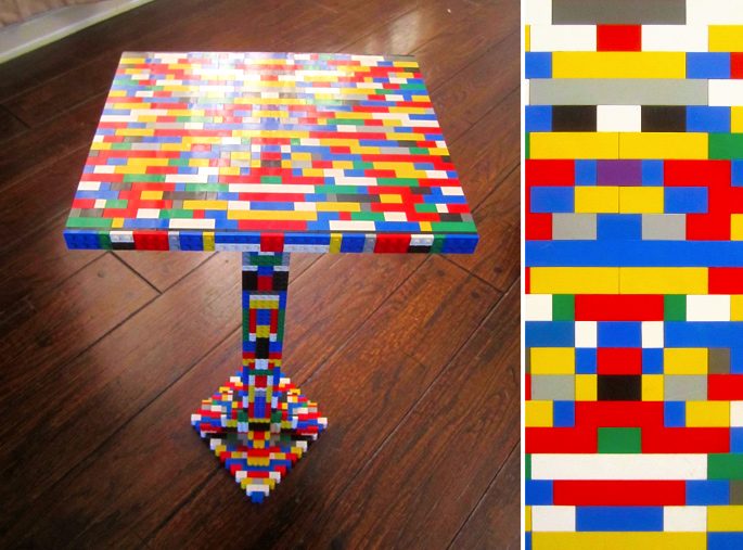 21 Insanely Cool DIY LEGO Furniture and Home Decor Creations: #3 100% LEGO table