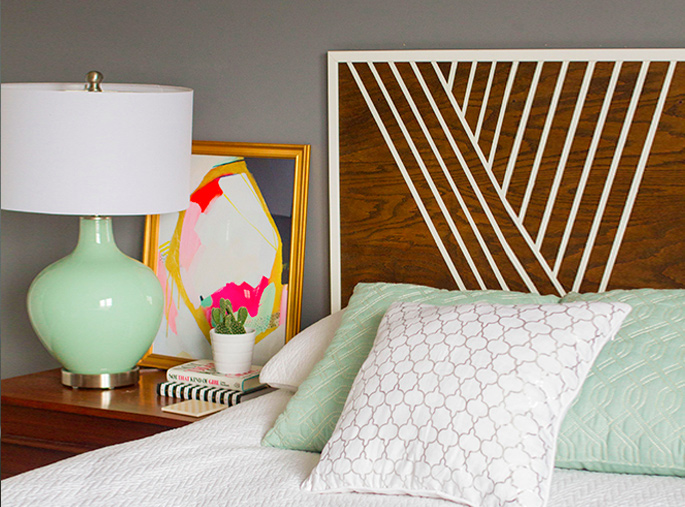 15 Ideas and Secrets For Making DIY Wooden Headboards Look Expensive #3: Finish With Style - Decorative Painting