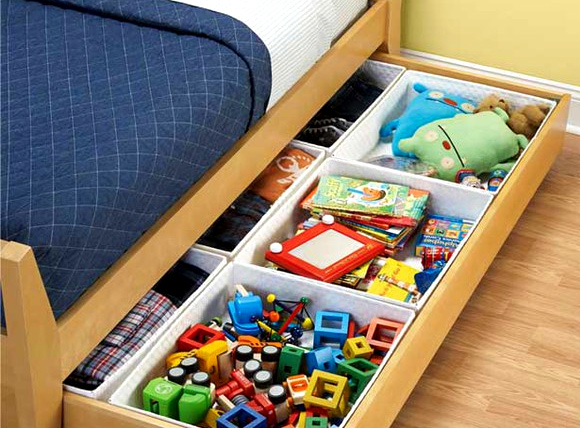 7 Friendly Kids Room Storage Ideas: #3 What's under the bed?