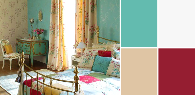 Vintage Paint Colors and Palette Home Style Guide: San Clemente Teal