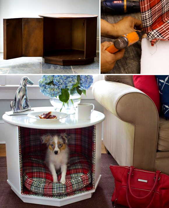 Making Sleeping Arrangements: Creative Ideas for DIY Dog Beds - #5 How to make a side table and elevated dog bed combo