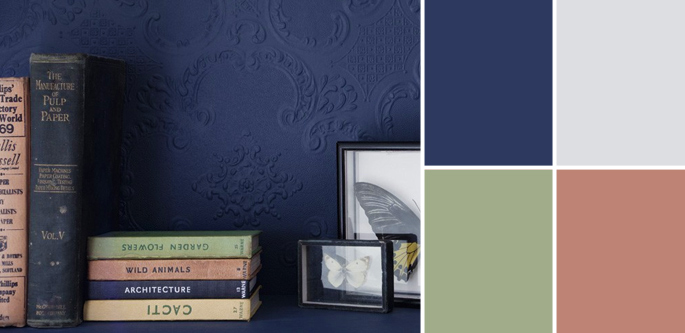 Vintage Paint Colors and Palette Home Style Guide: Bold Blue