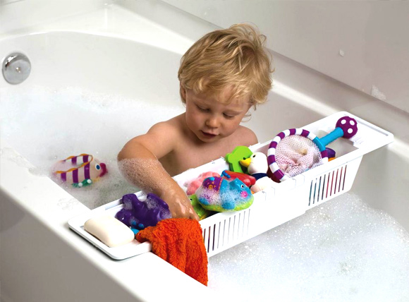 11 Hassle Free Kids Toy Storage Ideas: #10 Bath time toys