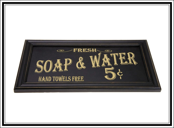 What Vintage Home Decor Pieces Can You Buy For Under $12? #6 Bathroom sign