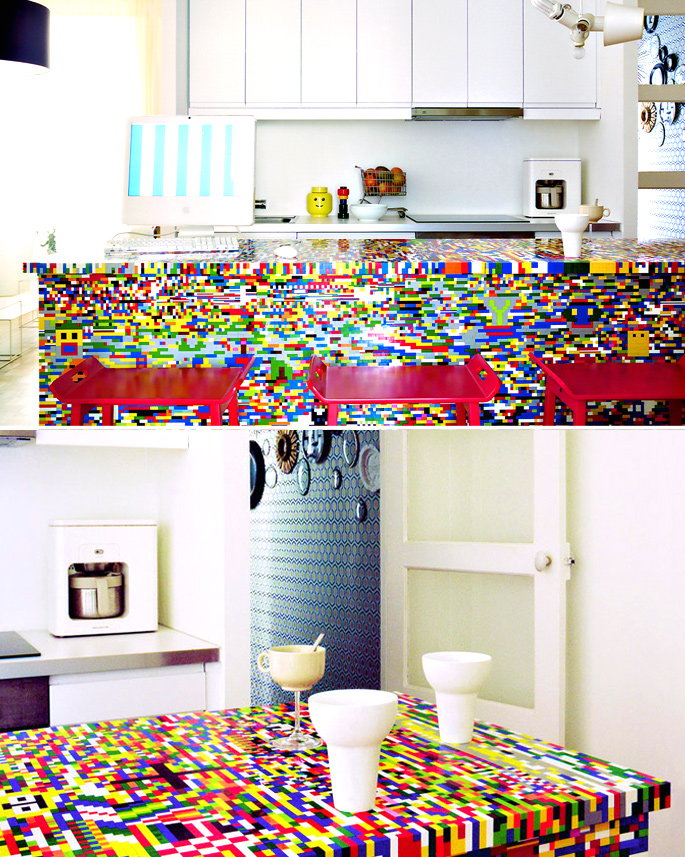 21 Insanely Cool DIY LEGO Furniture and Home Decor Creations: #7 LEGO kitchen island build