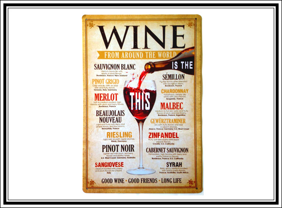 What Vintage Home Decor Pieces Can You Buy For Under $12? #7 Vintage wine sign