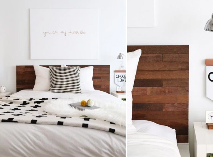 15 Ideas and Secrets For Making DIY Wooden Headboards Look Expensive #8: Upgrading a bed