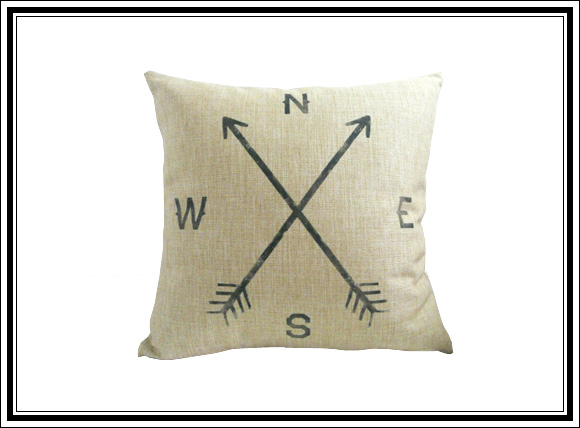 What Vintage Home Decor Pieces Can You Buy For Under $12? #9 Compass cushion