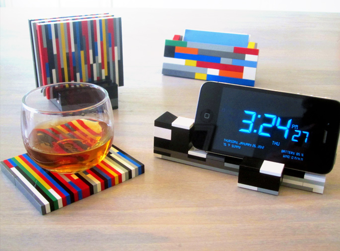 21 Insanely Cool DIY LEGO Furniture and Home Decor Creations: #12 LEGO drink coasters