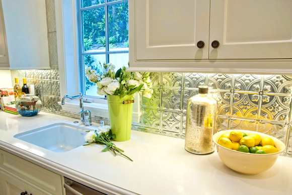 21 Kitchen Backsplash Ideas and Design Tips || The Ultimate Creative Guide: #12 Tin tiles