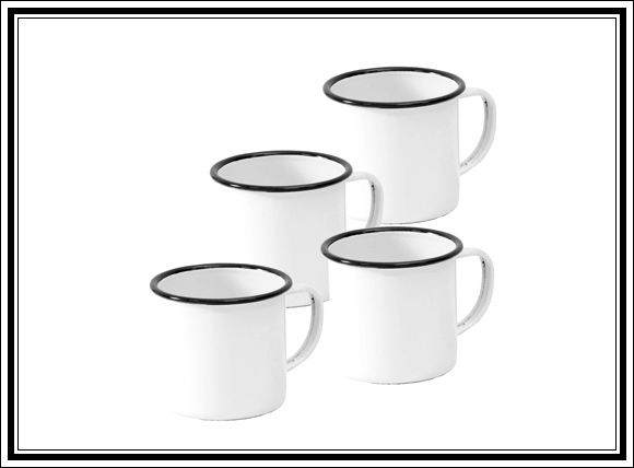 What Vintage Home Decor Pieces Can You Buy For Under $12? Splurge Item #3 Enamel mugs