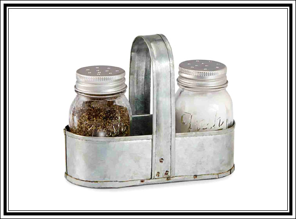 What Vintage Home Decor Pieces Can You Buy For Under $12? Splurge Item #4 Galvanized salt and pepper set