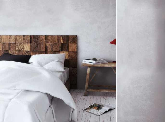 15 Ideas and Secrets For Making DIY Wooden Headboards Look Expensive #14: Wooden blocks