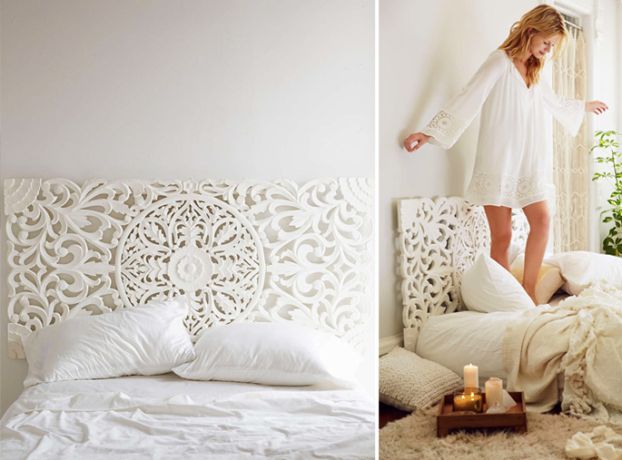 15 Ideas and Secrets For Making DIY Wooden Headboards Look Expensive #15: Wood carving