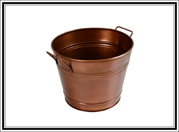 What Vintage Home Decor Pieces Can You Buy For Under $12? Splurge Item #6 Copper planter
