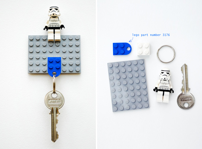 21 Insanely Cool DIY LEGO Furniture and Home Decor Creations: #17 LEGO key holder
