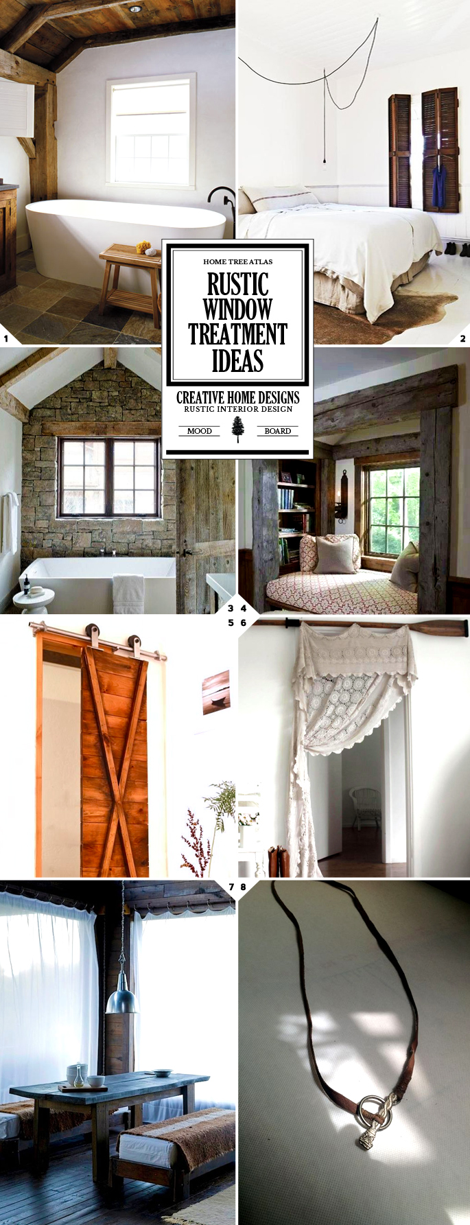 rustic window treatments and curtain ideas home tree atlas. Black Bedroom Furniture Sets. Home Design Ideas