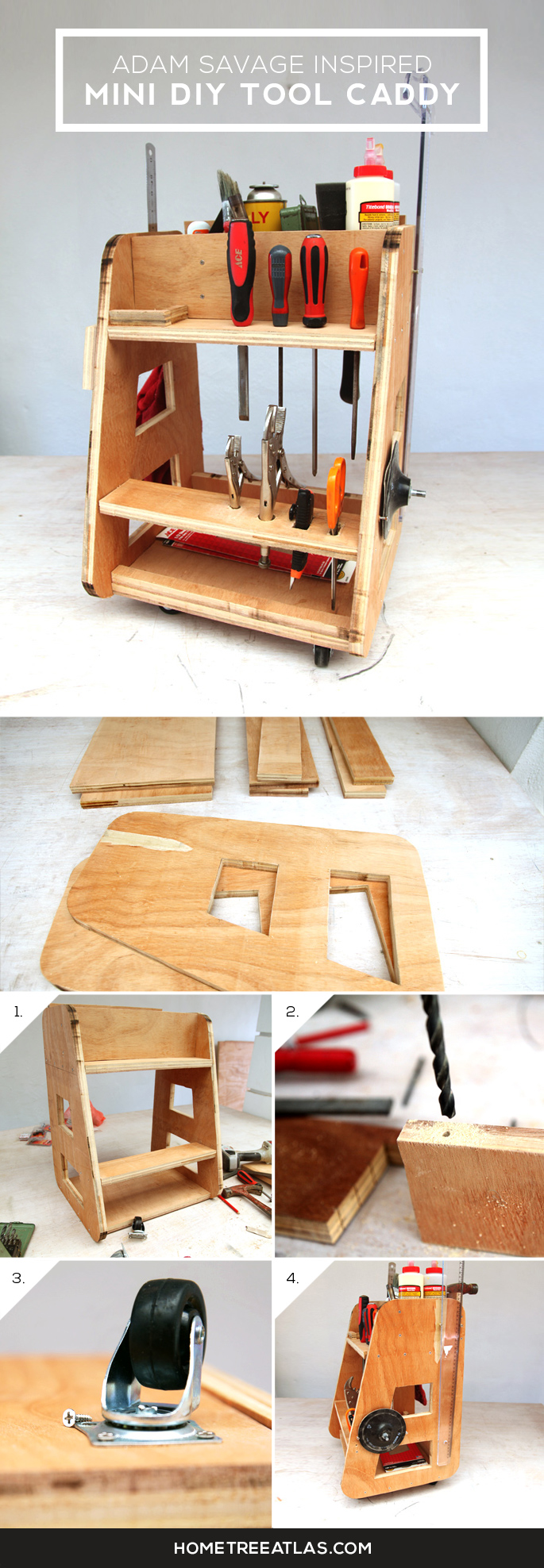 DIY Tool Caddy Inspired By Adam Savage From Mythbusters