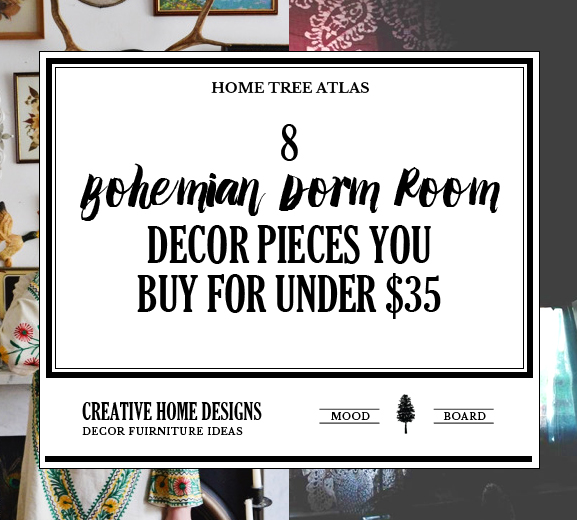 The Free Spirit: Bohemian Dorm Room Ideas - 8 Decor Pieces for Under $35