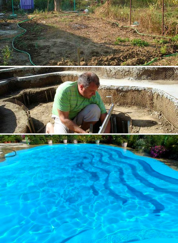 7 DIY Swimming Pool Ideas and Designs: From Big Builds to Weekend Projects - #3 A more traditional DIY concrete swimming pool build