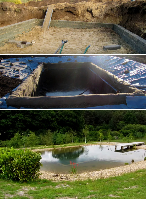 7 DIY Swimming Pool Ideas and Designs: From Big Builds to Weekend Projects - #4 A natural swimming pond DIY