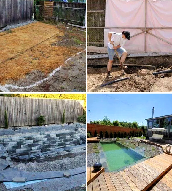 7 DIY Swimming Pool Ideas and Designs: From Big Builds to Weekend Projects - #5 Natural inground swimming pool pond