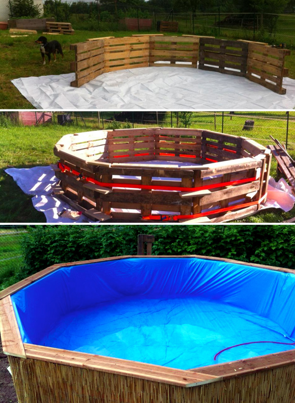 7 DIY Swimming Pool Ideas and Designs: From Big Builds to Weekend Projects - #6 DIY pallet swimming pool