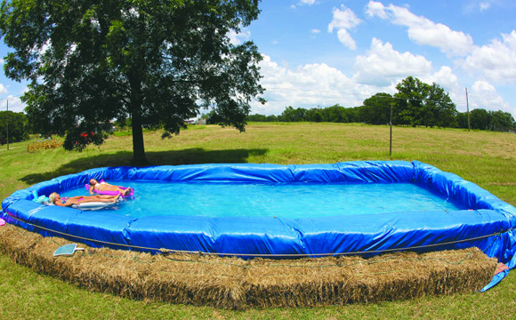 7 DIY Swimming Pool Ideas and Designs: From Big Builds to Weekend Projects - #7 Hay bale swimming pool