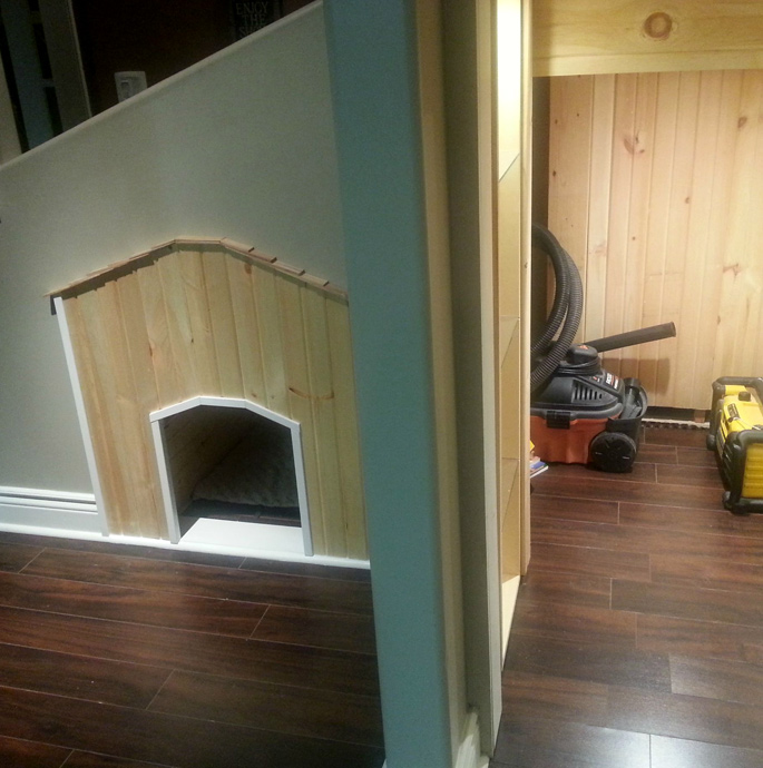 Weekend Build: DIY Staircase Dog House