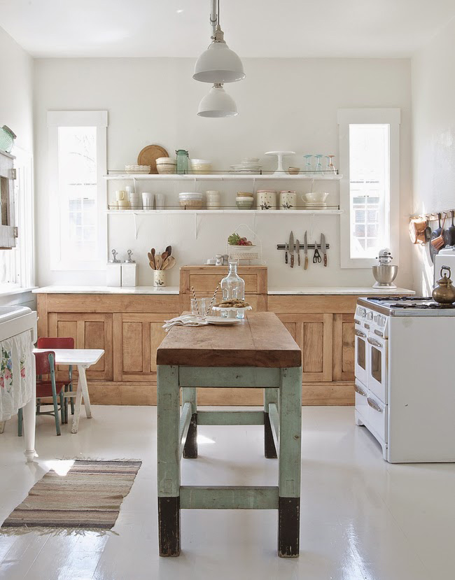 Before and After: Shabby Chic to Modern Vintage Kitchen Makeover - Modern vintage kitchen design
