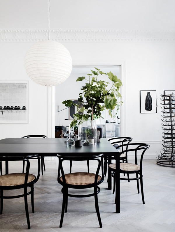 PASSPORT: Modern Rustic LA Home Tour - Black and white dining room