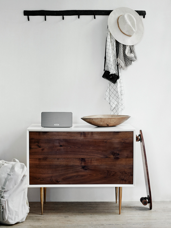 PASSPORT: Modern Rustic LA Home Tour - Wooden bedroom side table