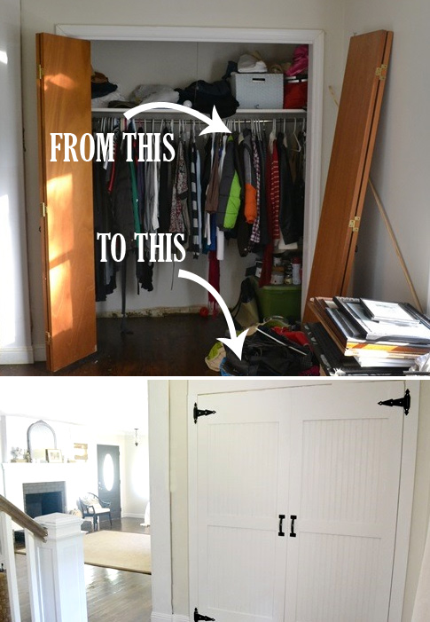 Makeover: closet door ideas