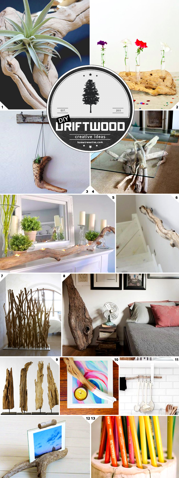 Home Decor and DIY Ideas: Using Driftwood