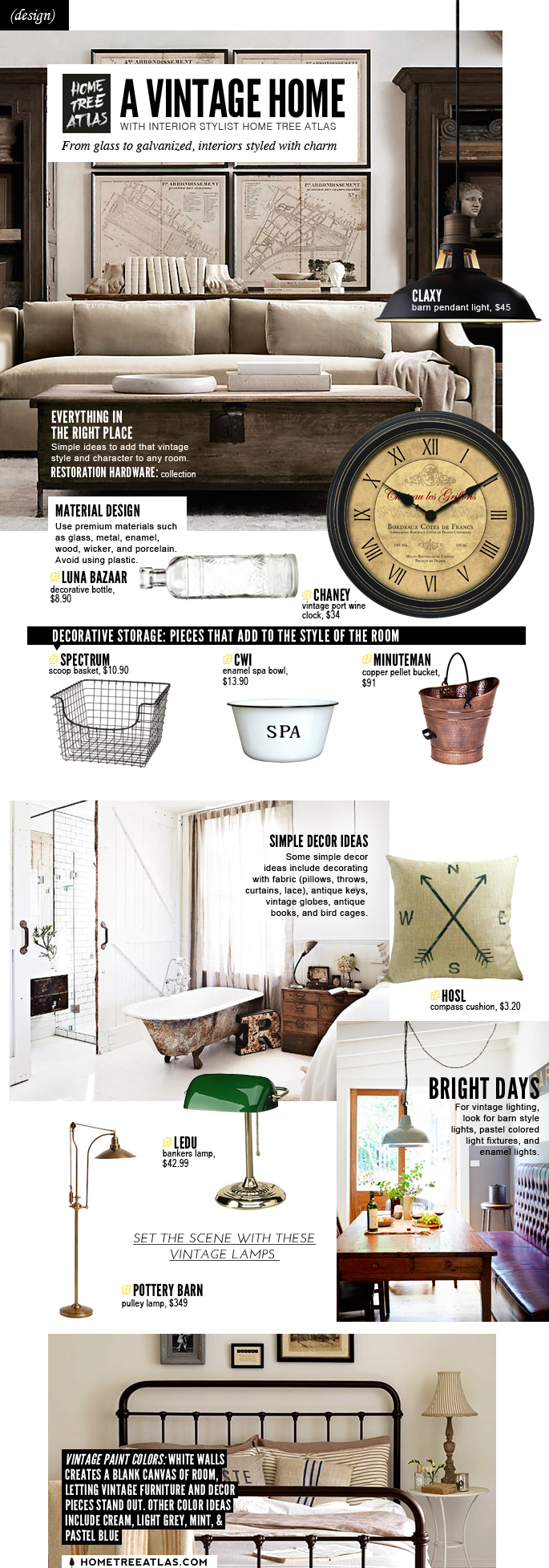The vintage home style guide ideas that make vintage for Interior design styles guide