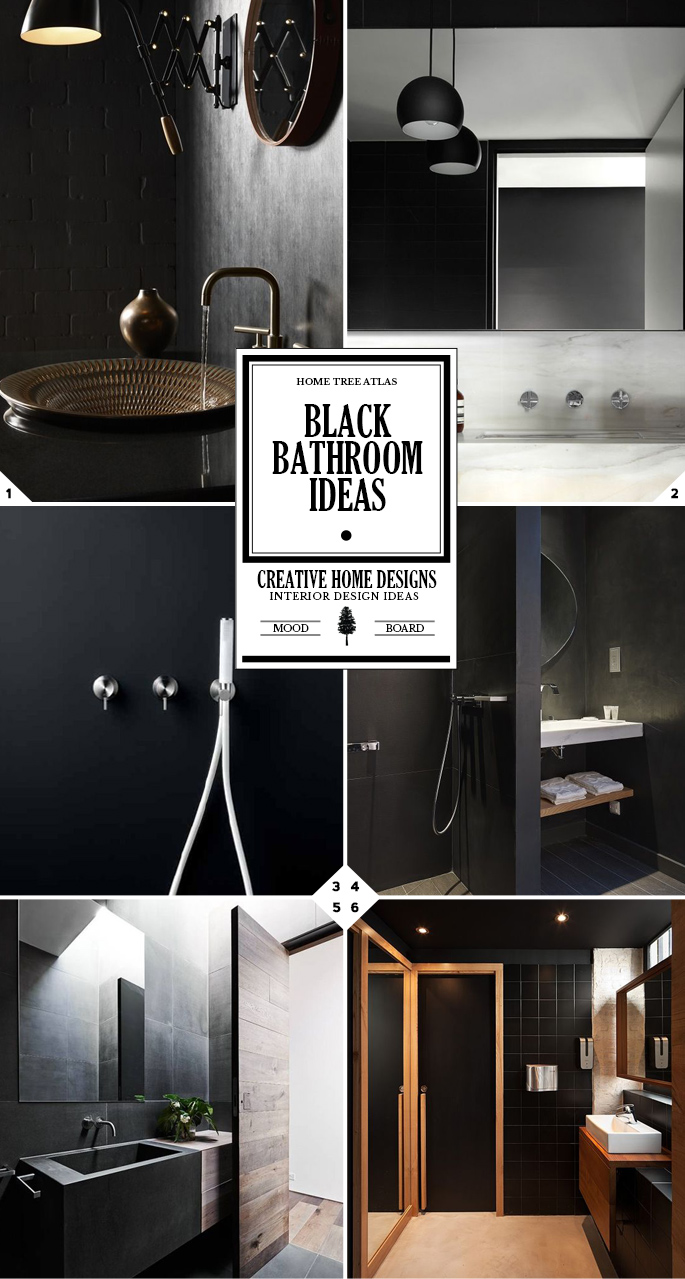 Luxury With Color: Black Bathroom Ideas