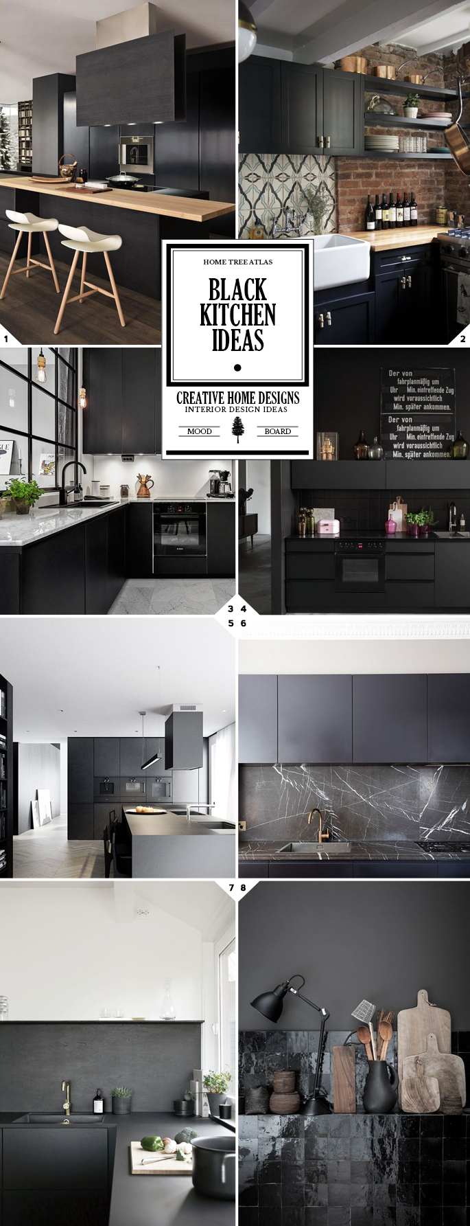 A different style black kitchen ideas and designs home for Different kitchen design ideas