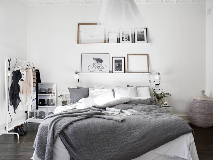 PASSPORT: Scandinavian Hardwood Floor Apartment Tour - Bedroom