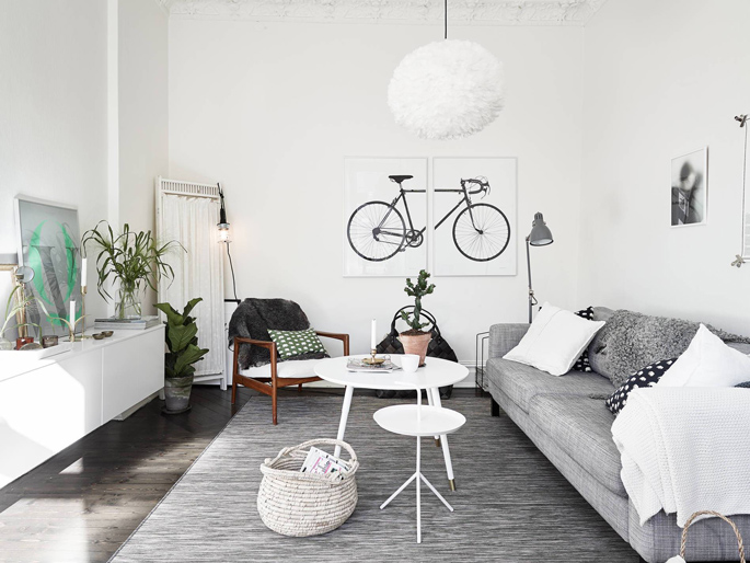 PASSPORT: Scandinavian Hardwood Floor Apartment Tour - Living Room